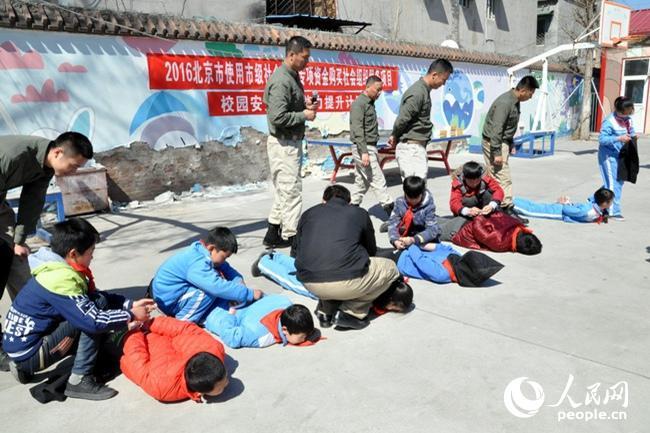 北京奧運火炬手協會走進校園開展安全教育活動